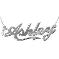 Personalized Silver 'Coca Cola' Font Name Necklace