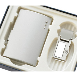 Silver Money Clip and Business Card Case Gift Set