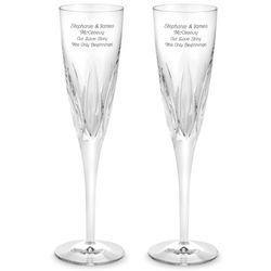 Engravable Juliet Crystal Flutes