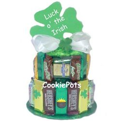 Luck of the Irish Candy Bar Cake