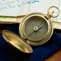 Vasco de Gama Brass Pocket Compass