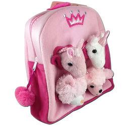 Girl's Princess Plush Animal Backpack