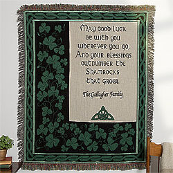 Personalized Irish Blessing Afghan