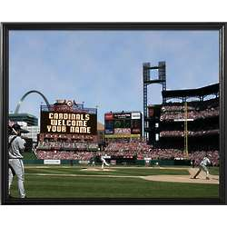 St. Louis Cardinals Personalized Scoreboard 11x14 Framed Canvas