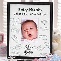 Personalized Baby Love Signature Mat Frame