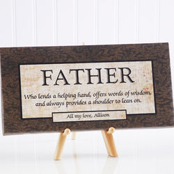 Words of Wisdom Personalized Canvas Art for Him