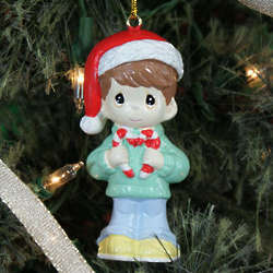 Precious Moments Boy Christmas Ornament