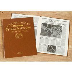 Washington Post Giants Fan Personalized Team Book