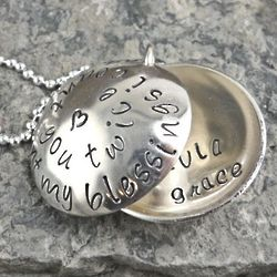 When I Count My Blessings Personalized Hand Stamped Necklace