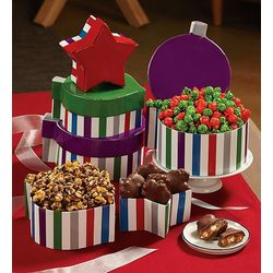 Tower of Sweets in Ornament Boxes