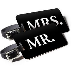 Mr and Mrs Find Me ID Luggage Tags