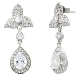 Pippa Middleton Replica Sterling Silver Royal Wedding Earrings