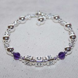 Brooke Avery Grow-With-Me Girls Sterling Silver Name Bracelet