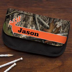 Tree Camo Personalized Pencil Case