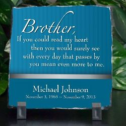 Brother Means More Sympathy Plaque