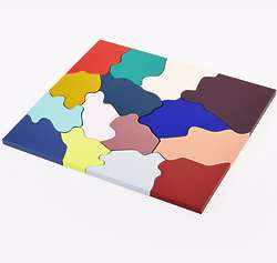 Color Abstract Wooden Puzzle