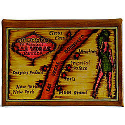 Las Vegas Map Leather Photo Album
