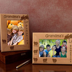 Personalized Lil' Pumpkins Wooden Picture Frame