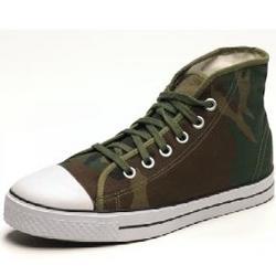 Woodland Camo Hi-top Sneakers