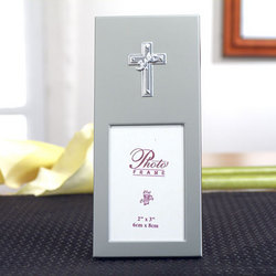 2x3 Silver Cross Frame