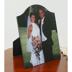 Personalized 8x10 Arched Chromaluxe Photo Panel