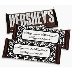 Personalized Classic Black and White Candy Bar Wrappers