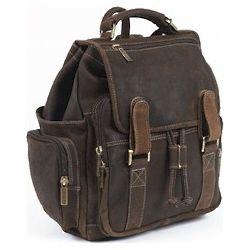 Vintage Leather Briefcase Backpack