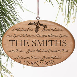 Personalized Family Is Forever Christmas Ornament