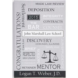 Personalized Legal Professions Canvas Artwork
