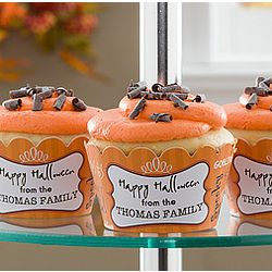 Personalized Happy Halloween Cupcake Wrappers