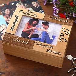 Personalized Best Friends Wood Photo Box