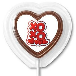 XOXO Chocolate Lollipop