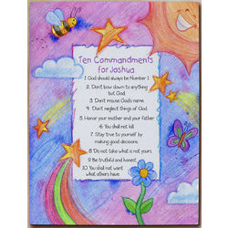 Personalized Children's 10 Commandments Wall Canvas