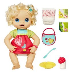 Caucasian My Baby Alive Doll and Accessories