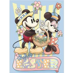 Happy Easter Mickey and Minnie Garden Flag