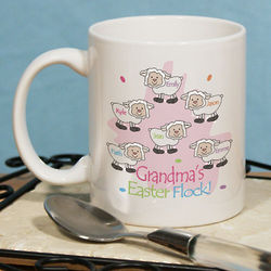 Personalized Easter Flock Coffee Mug