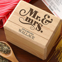 Happy Couple Personalized Recipe Box