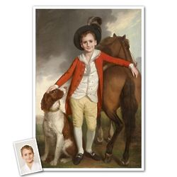 Little Prince and Friends Personalized Classic Portrait Print