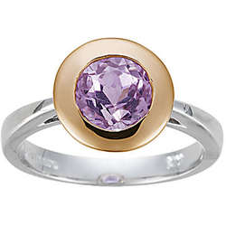 Two Tone Kunzite Ring in 10K Gold