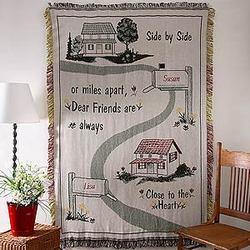 The Road Between Friends Tapestry Afghan