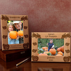 Personalized Pumpkin Patch Wooden Picture Frame