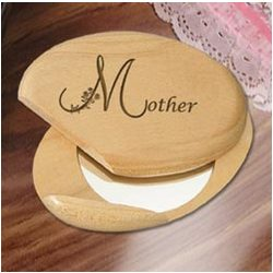 Personalized Motherly Treasure Wooden Compact Mirror