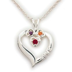Sterling Silver Daughter's Heart Pendant