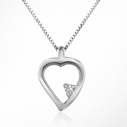 Princess Diamond Heart 18K Gold Necklace