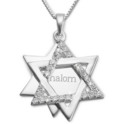Sterling CZ Star of David Necklace