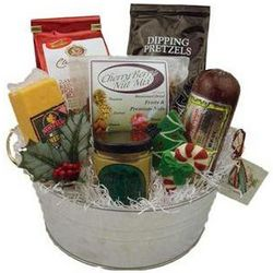 Holiday Cheese and Sausage Gift Bucket