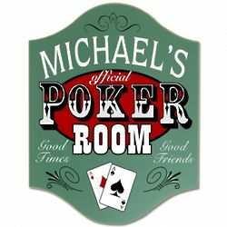 Official Poker Room Custom Sign