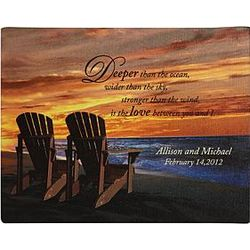 Personalized Unframed Beach Chair Canvas