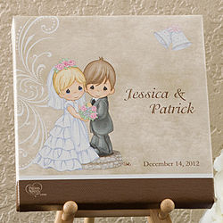Personalized Precious Moments Bride and Groom Canvas Art
