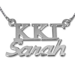 Sterling Silver Personalized Sorority Necklace